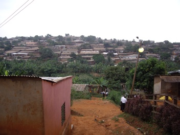 This was what a typical neighborhood looked like in Cameroon. This was in the middle of the Manguiers Quartier in capital city of Yaoundé.